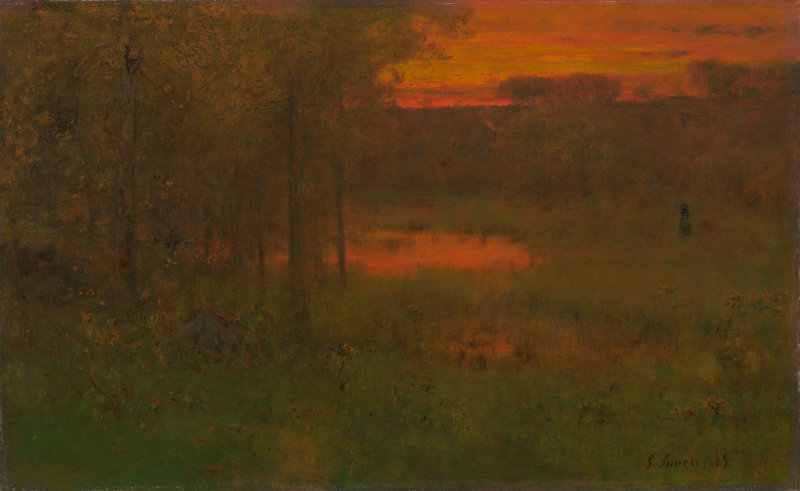 Landscape Sunset by George Inness 1887