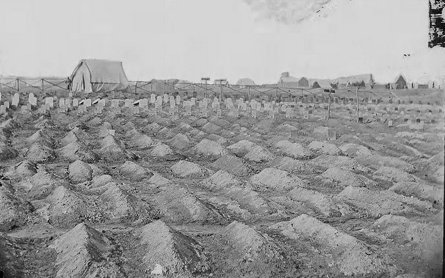Civil War graves, near City Point, Virginia courtesy fold3.com