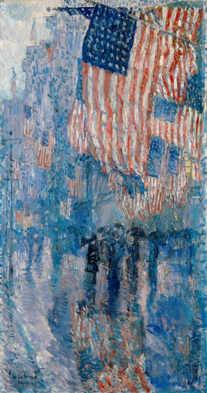 Childe Hassam 1859-1935 - American painter - Avenue of the Allies 1918 - The Impressionist Flags  (1)