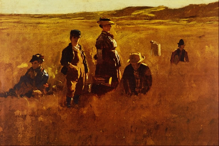 eastman johnson in the fields