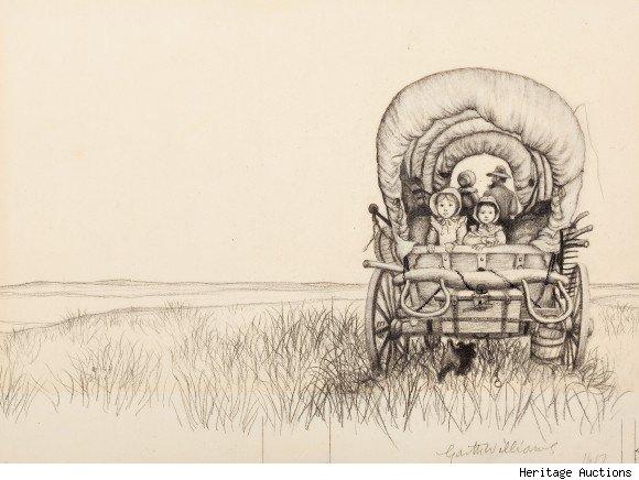 garth-williams-little-house-on-the-prairie-original-artwork