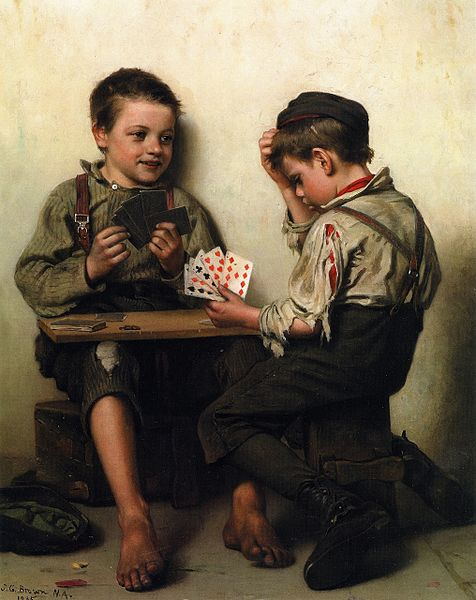 John_George_Brown_-_Bluffing_(1885)