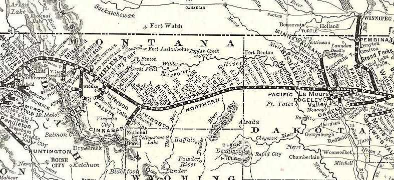 Northern Pacific railroad map