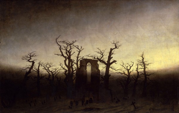 Caspar David Friedrich, Abbey among Oak Trees, 1809 or 1810 (Alte Nationalgalerie, Berlin)