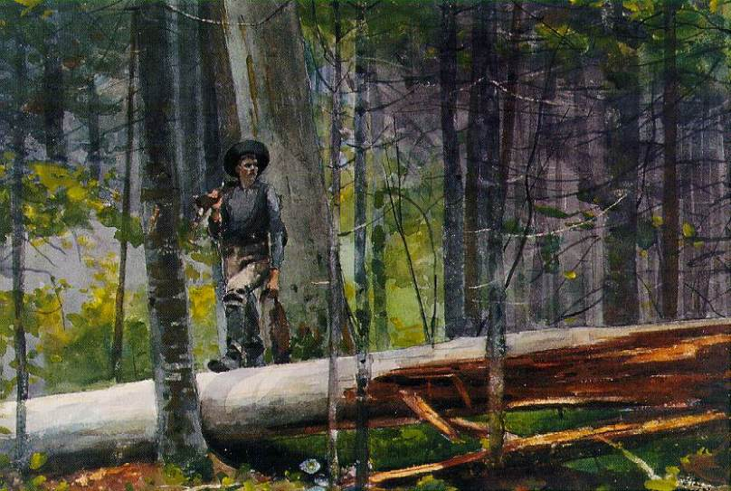 Winslow Homer - Hunter in the Adirondacks