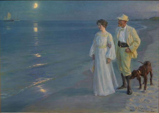 P_S_Krøyer_1899_-_Sommeraften_ved_Skagens_strand._Kunstneren_og_hans_hustru