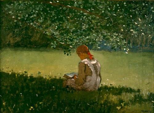 girl-reading-winslow-homer