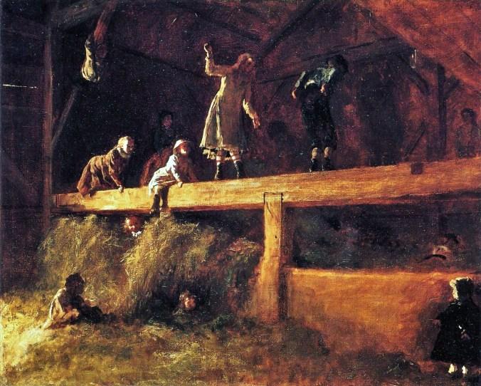 The Hayloft by Eastman Johnson