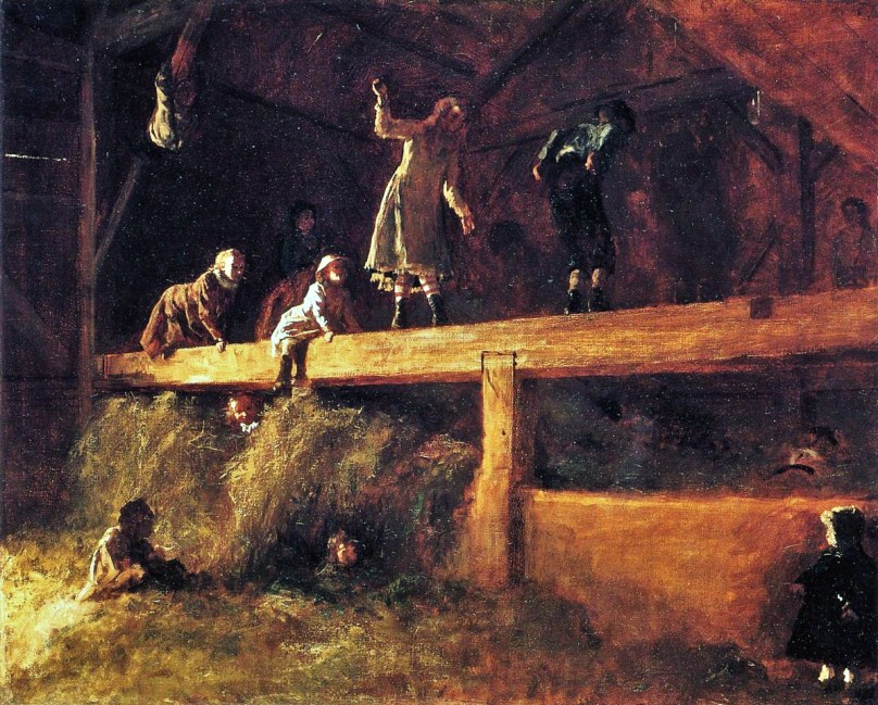 The Hayloft by Eastman Johnson