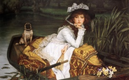 james-tissot-young-lady-in-a-boat-pug