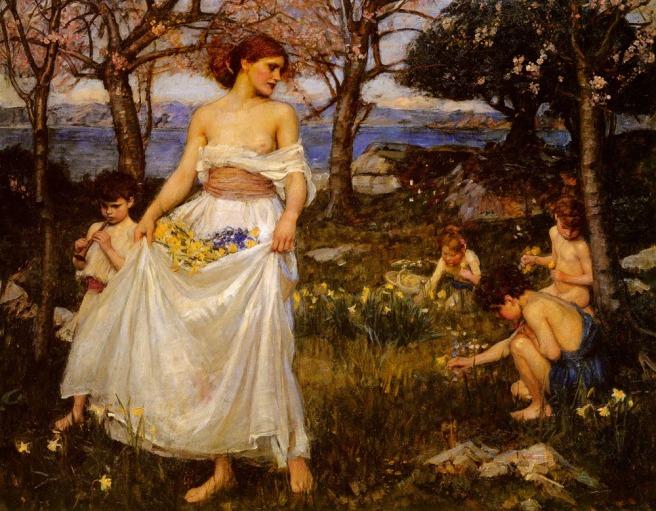 john-william-waterhouse-a-song-of-springtime-1913
