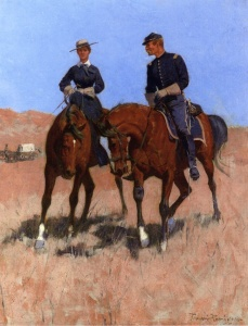 calvary officer and woman