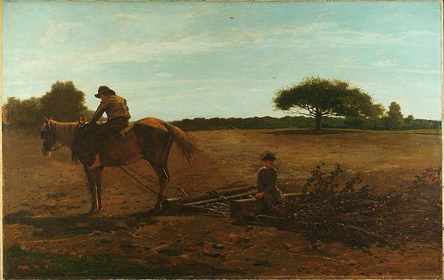 Winslow_Homer_-_The_Brush_Harrow_(1865)